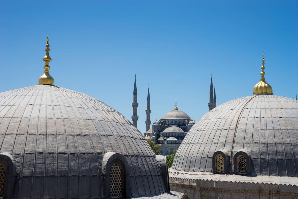 قباب مسجد السلطان احمد